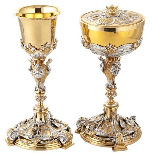 Calice argento e Pisside annunciazione crocifissione natività 1
