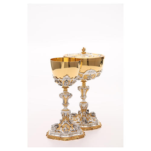 Chalice and ciborium with Sacred Heart of Jesus 10