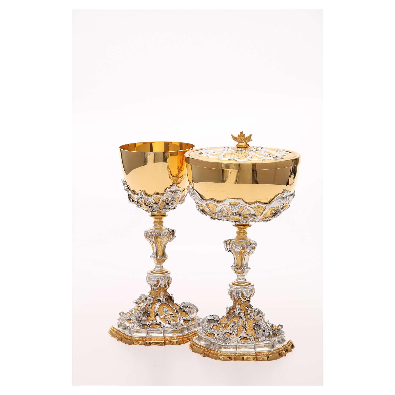 Calice et ciboire laiton sacre coeur de Jésus 4