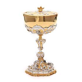 Calice e pisside ottone Sacro Cuore di Gesù s6