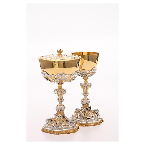 Calice e pisside ottone Sacro Cuore di Gesù 9