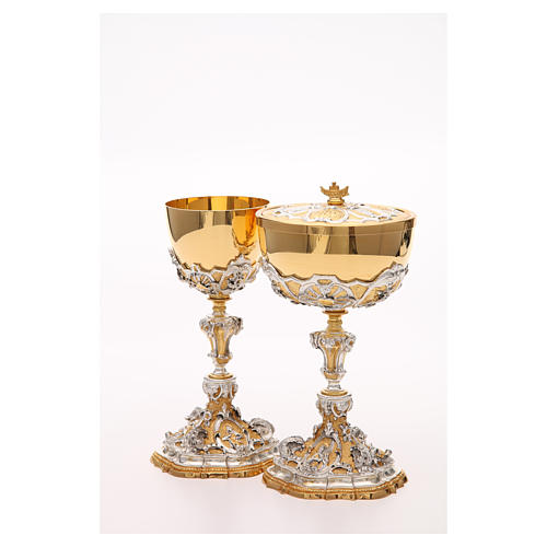 Chalice and ciborium with Sacred Heart of Jesus 8