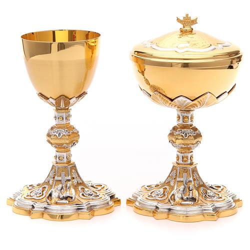 Calice e pisside ottone Pietà 1