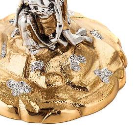 Calice e Pisside cesellata ottone La Pietà s7