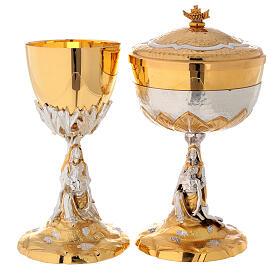 Calice e Pisside cesellata ottone La Pietà s1