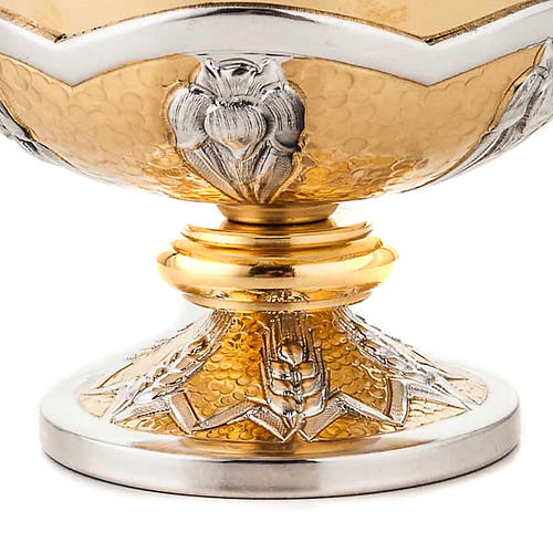 Chalice and ciborium Grapes and spikes, chiseled brass 5