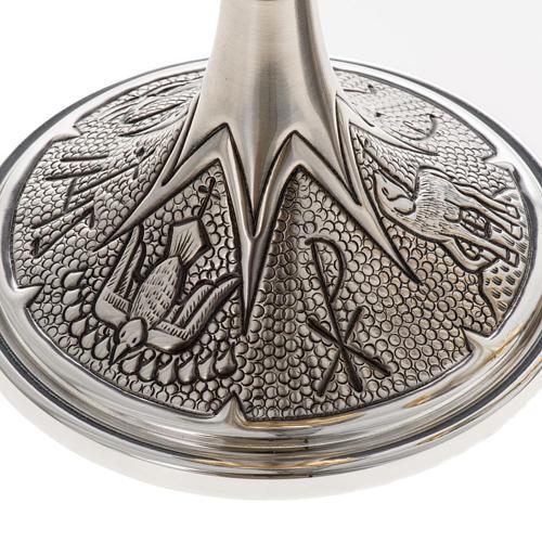 Chalice and ciborium Chi-Rho chiseled brass 3