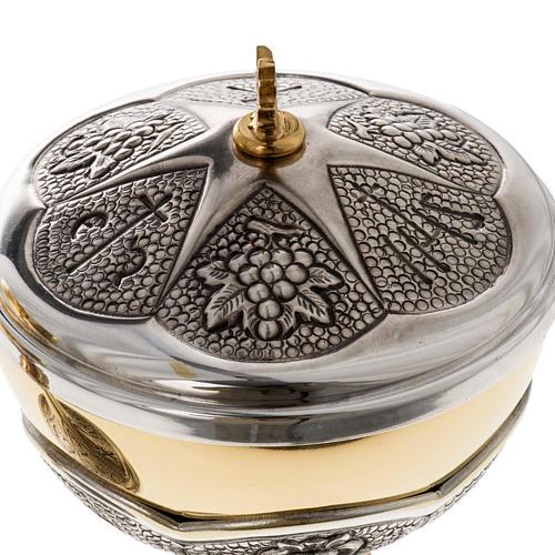 Chalice and ciborium Chi-Rho chiseled brass 6
