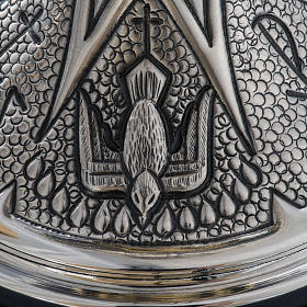 Chalice and ciborium Chi-Rho chiseled brass s13