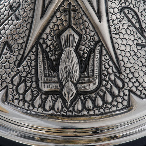 Chalice and ciborium Chi-Rho chiseled brass 13