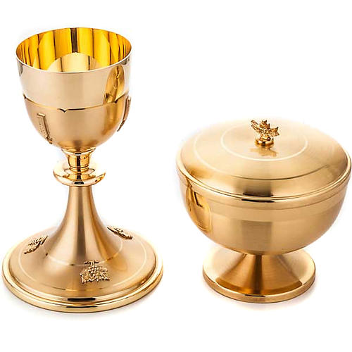 Chalice and ciborium gold plated 1