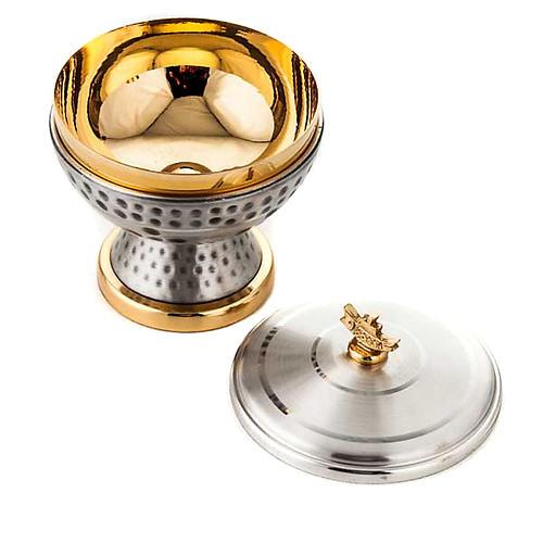 Chalice and ciborium hammered brass 4