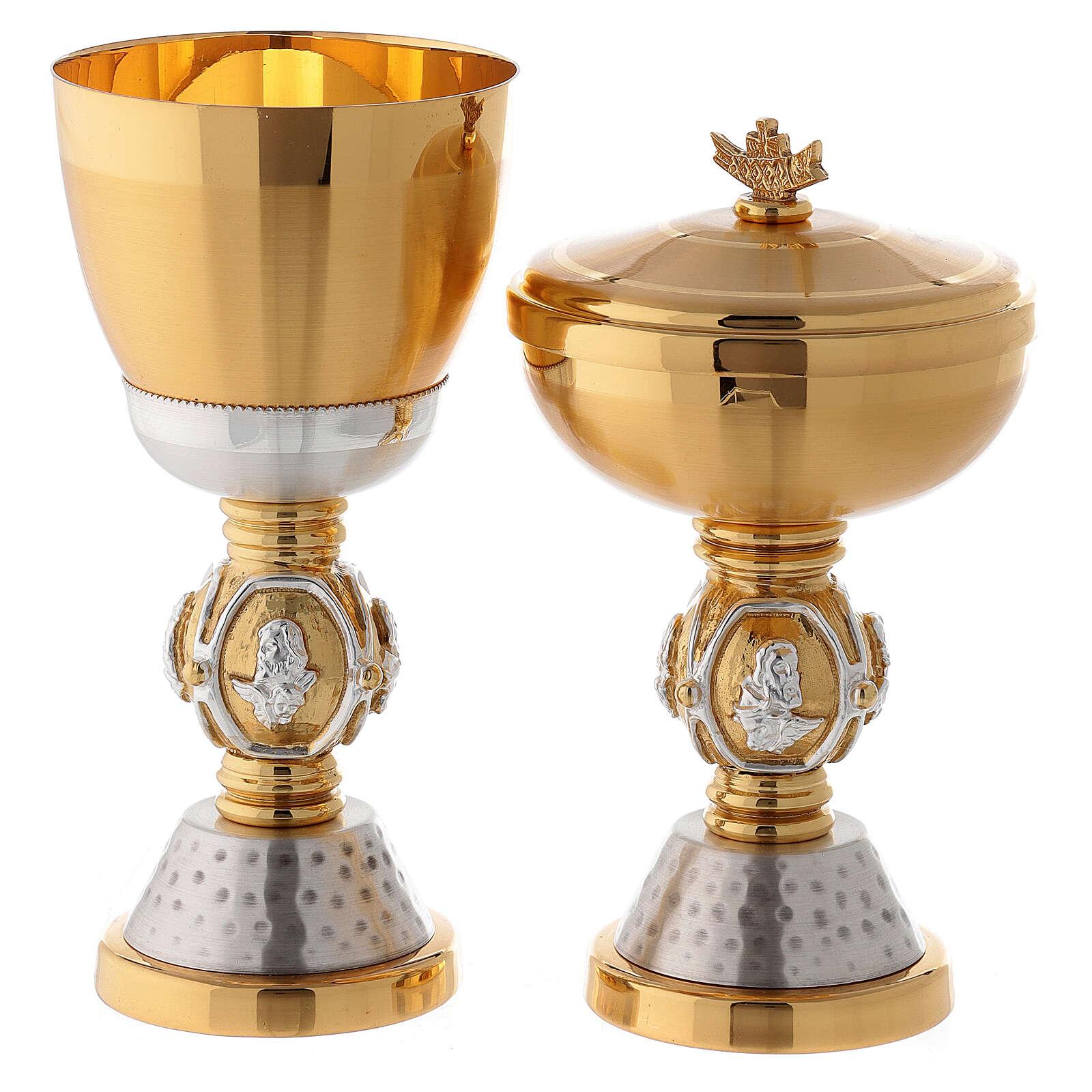 Calice e pisside ottone simboli evangelisti 4
