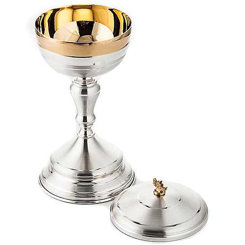 Calice e pisside ottone oro argento satinato 5