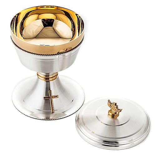 Chalice and ciborium cross silver brass satin 6