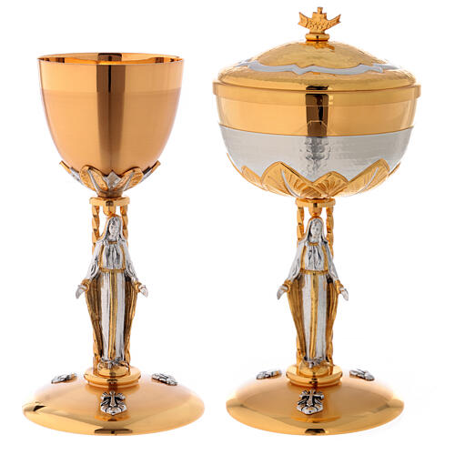 Chalice and ciborium Our Lady 1