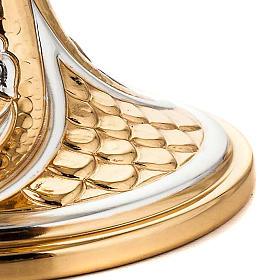 Calice ottone dorato cesellato gigli e spighe s4