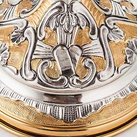 Calice argento 800/1000 e ottone tavole legge, cuore e pane s4