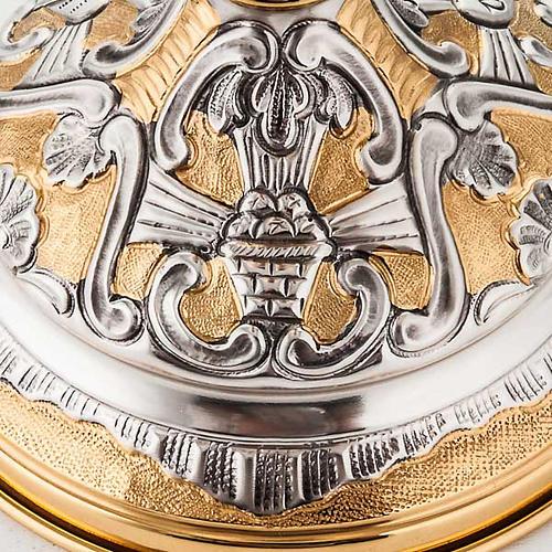 Calice argento 800/1000 e ottone tavole legge, cuore e pane 5