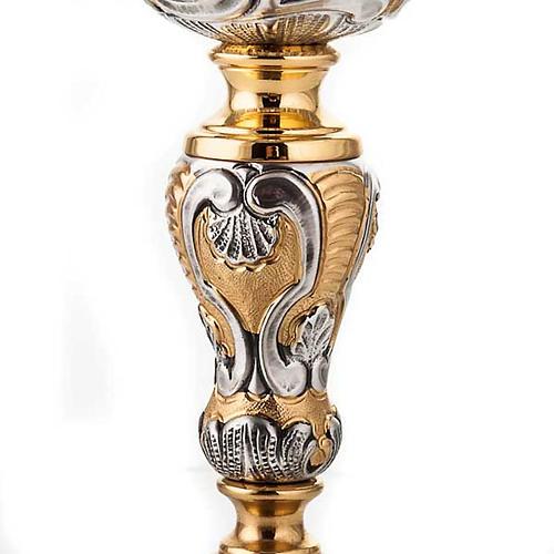 Calice argento 800/1000 e ottone tavole legge, cuore e pane 6