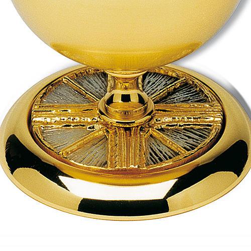 Ziborium vergoldete  Messing Kreuz und Strahlen