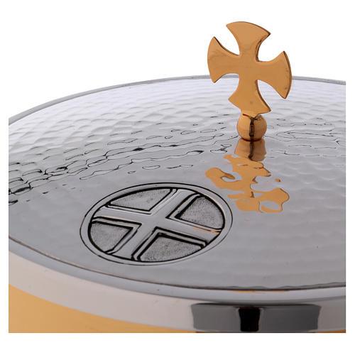 Patena offertoriale ottone croce celtica foglie acanto 2