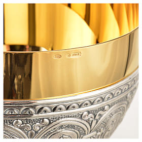 Calice pisside patena ottone argento 12 apostoli s12
