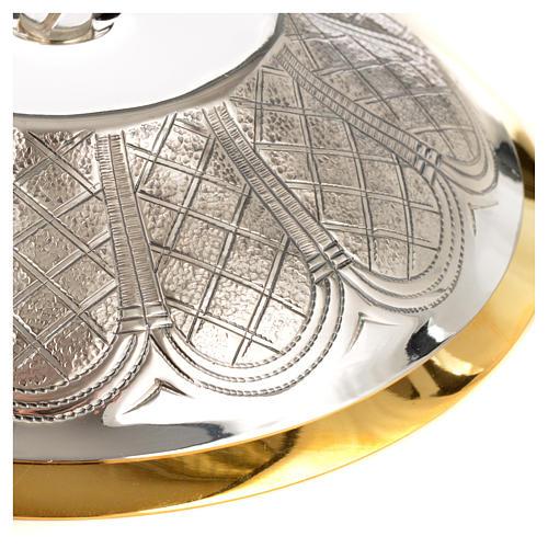Calice pisside patena ottone argento 12 apostoli 11