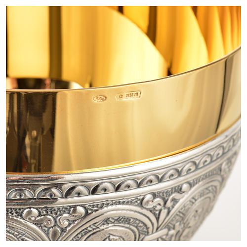 Calice pisside patena ottone argento 12 apostoli 12