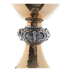 Calice e pisside ottone argento tazza liscia lucida s5