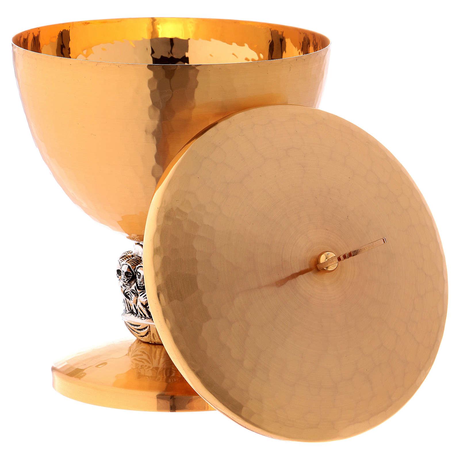 Calice ciboire dernière cène noeud lame d'argent 4