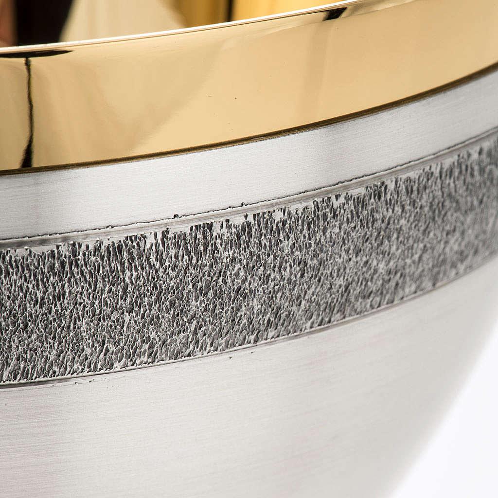 Calice e patena offertoriale ottone argento Miracoli 4