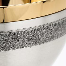 Calice e patena offertoriale ottone argento Miracoli s5