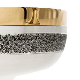 Calice e patena offertoriale ottone argento Miracoli s8