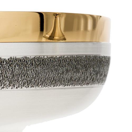 Calice e patena offertoriale ottone argento Miracoli 8