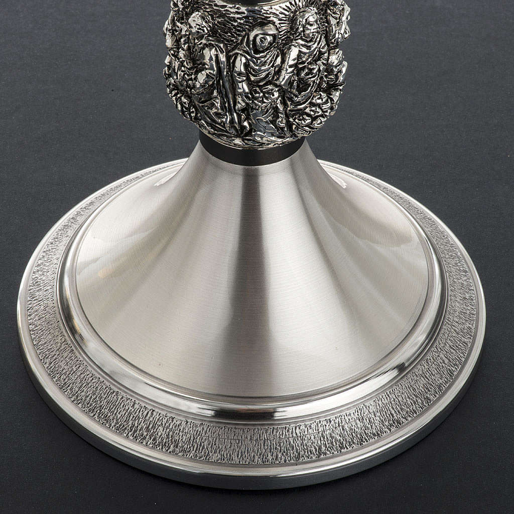 Cálice e patena litúrgica latão prata Milagres 4