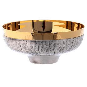 Calice pisside patena ottone argento uva spighe s6