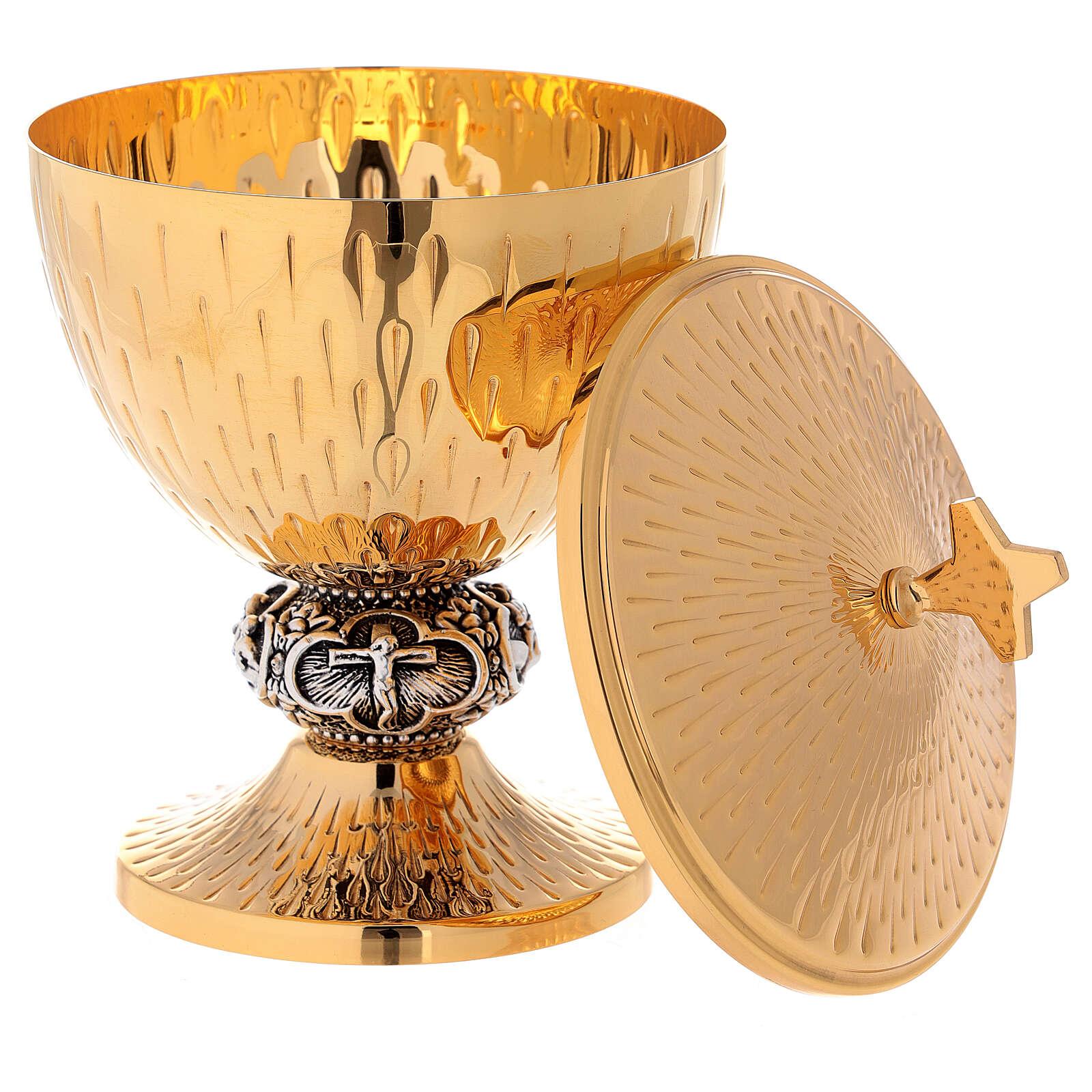 Chalice, ciborium and paten Jesus' life images 4