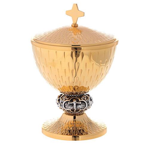 Chalice, ciborium and paten Jesus' life images 2