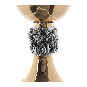 Calice e pisside ottone martellato argento Miracoli s6