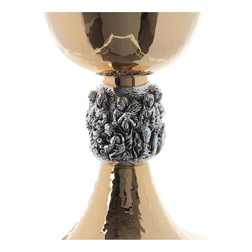 Calice e pisside ottone martellato argento Miracoli 5