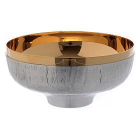 Calice pisside e patena ottone cesellato argento scene sacre s4