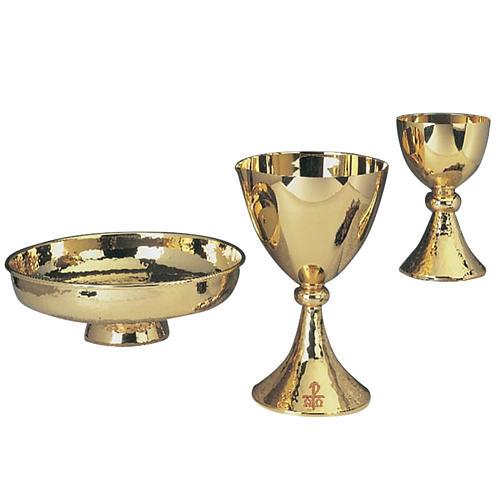 Cáliz y patena de bronce de tamaño grande 1