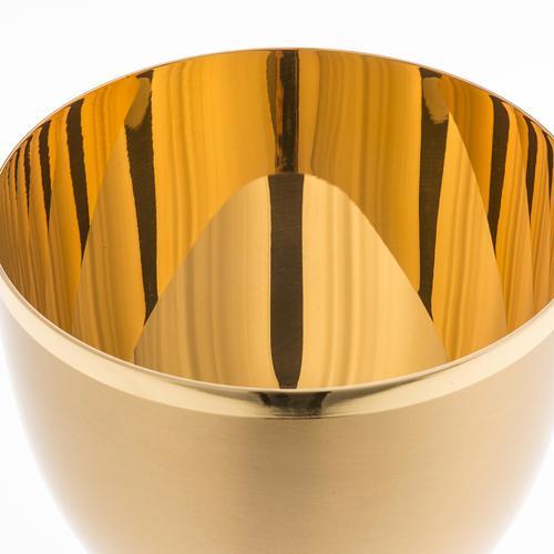 Calice ottone dorato opaco 13 cm 4