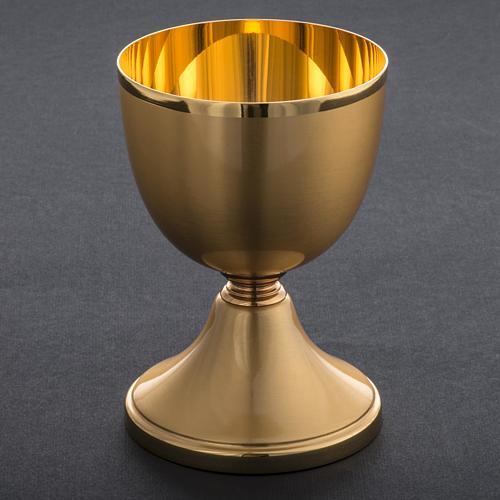 Calice ottone dorato opaco 13 cm 5