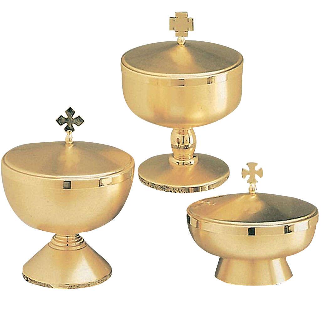 Pisside ottone dorato opaco 3 modelli e altezze 4