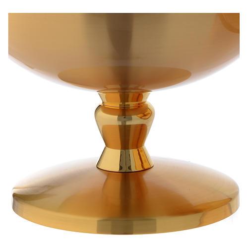 Ziborium vergoldetes Messing opak Keltenkreuz