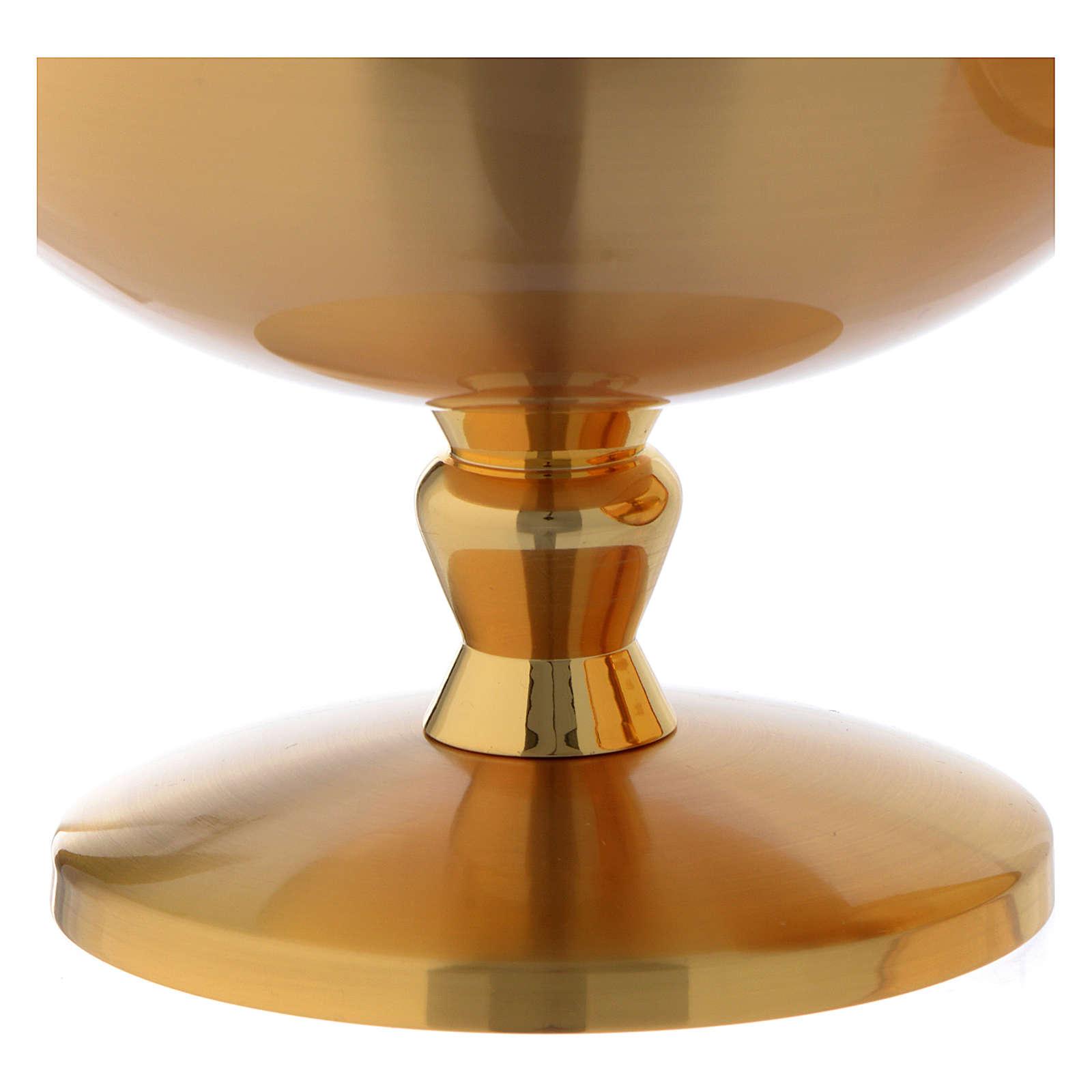 Pisside ottone dorato opaco croce celtica 4