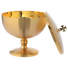 Pisside ottone dorato opaco croce celtica s3