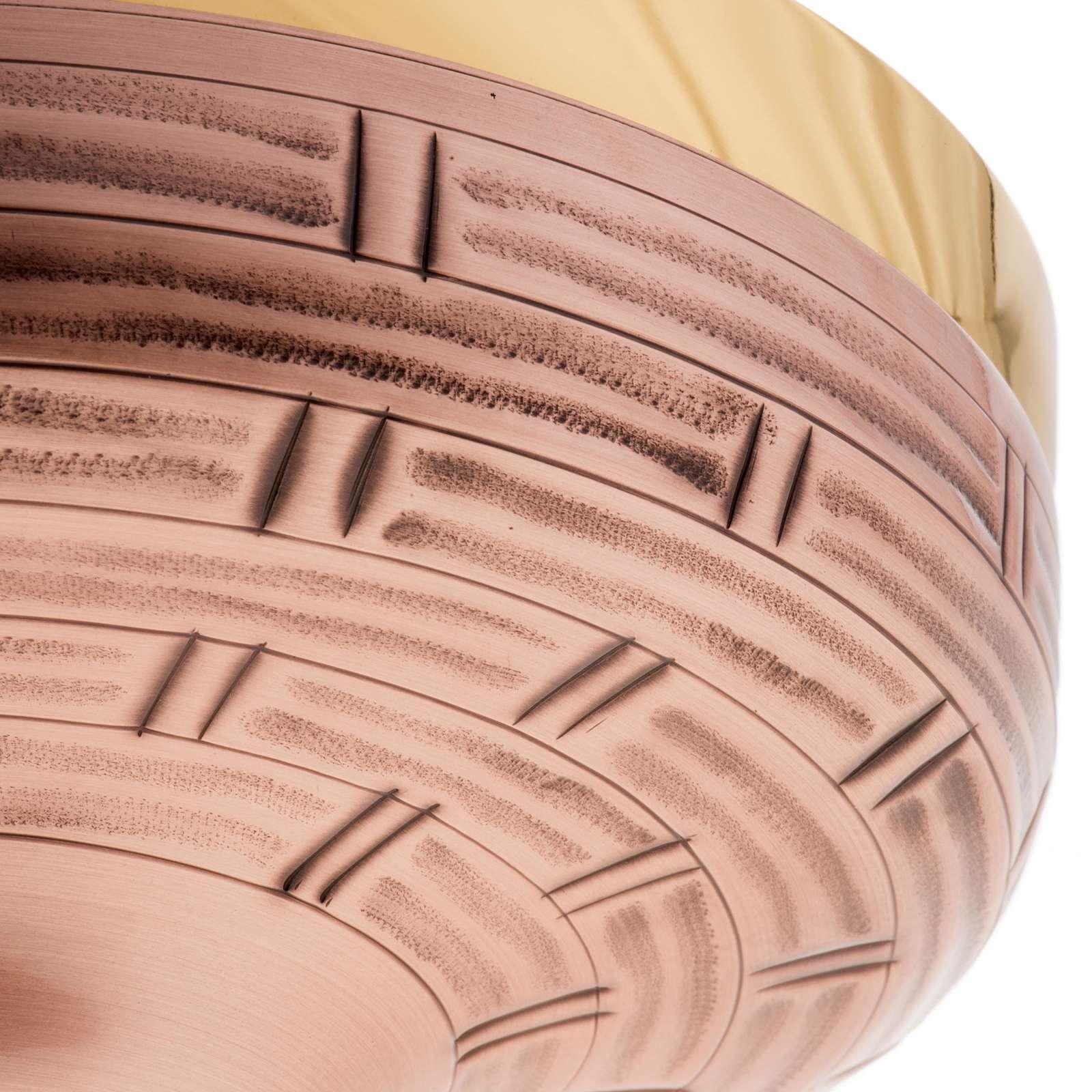 Patène laiton doré et bronze 16 cm 4
